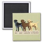Labrador Retriever 3 colors Refrigerator Magnets