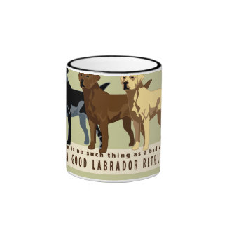 Labrador Retriever 3 colors Ringer Coffee Mug