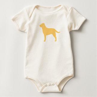 Labrador retriever (amarillo) body para bebé