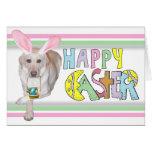 Labrador retriever amarillo de Pascua Felicitación