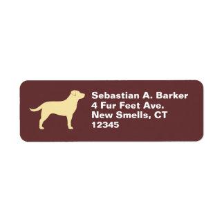 Labrador retriever (amarillo) etiqueta de remitente