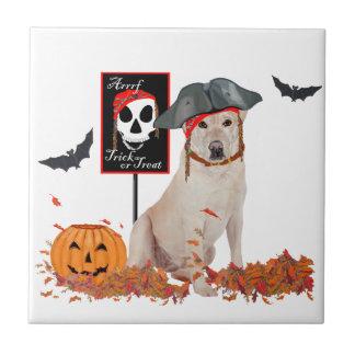 Labrador retriever amarillo Halloween Azulejos Ceramicos