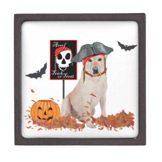 Labrador retriever amarillo Halloween Cajas De Regalo De Calidad