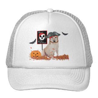 Labrador retriever amarillo Halloween Gorras