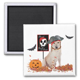 Labrador retriever amarillo Halloween Imanes Para Frigoríficos