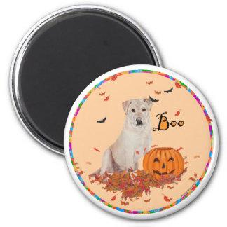 Labrador retriever amarillo Halloween Iman De Frigorífico