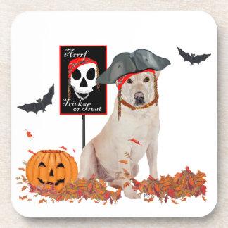 Labrador retriever amarillo Halloween Posavaso