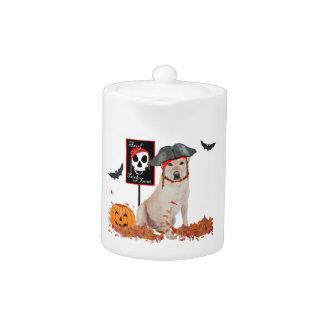 Labrador retriever amarillo Halloween