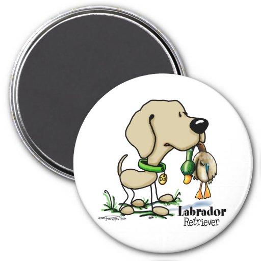 Labrador retriever - amarillo imán redondo 7 cm