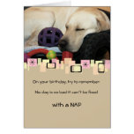 Labrador retriever amarillo Napping toda la Felicitaciones