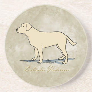 Labrador retriever amarillo posavasos cerveza