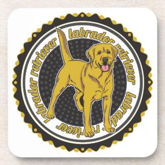 Labrador retriever amarillo posavasos