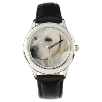 Labrador retriever amarillo relojes de pulsera
