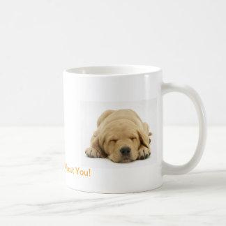Labrador retriever amarillo taza básica blanca