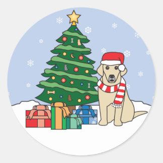 Labrador Retriever and Christmas Tree Stickers