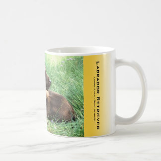 Labrador Retriever And Purple Flowers Coffee Mug