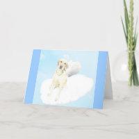 Labrador Retriever Angel Sympathy Card Dog