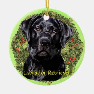 Labrador Retriever Art Ceramic Ornament