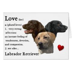 Labrador Retriever Art Gifts card
