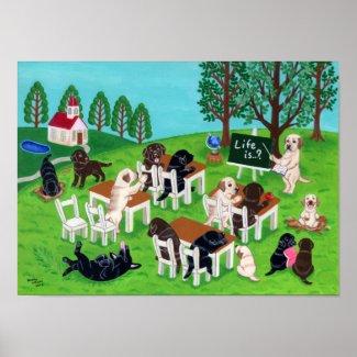 Labrador Retriever Art Print print