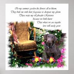 Chocolate Labrador Retriever Art Print print