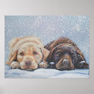 Labrador Retriever art Print