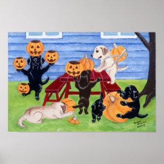 Labrador Retriever Art Print Halloween