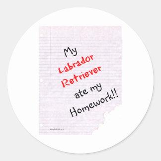 Labrador Retriever Ate My Homework - Sticker