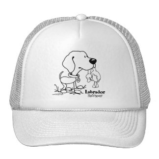 Labrador Retriever - B/W Trucker Hat