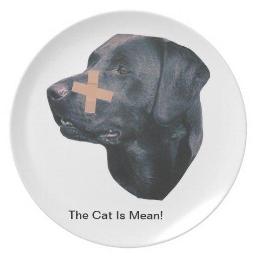 Labrador Retriever Band-Aid Plate