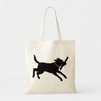 Labrador Retriever Black Canvas Bag