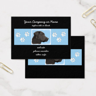 Labrador Retriever (Black) Business Card