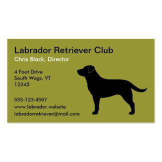Labrador Retriever (Black) Business Card Templates