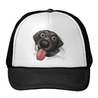 Labrador Retriever (Black) Busting Out Trucker Hat