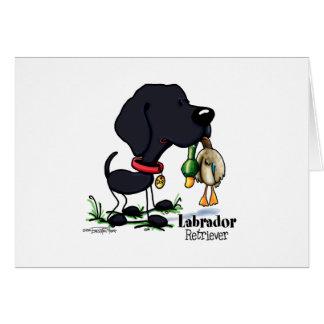 Labrador Retriever - Black Greeting Card