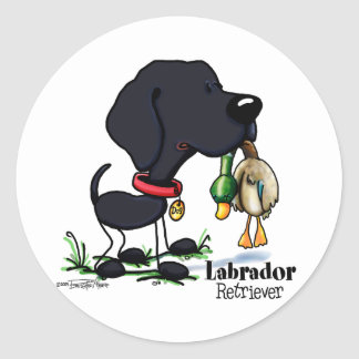 Labrador Retriever - Black Classic Round Sticker