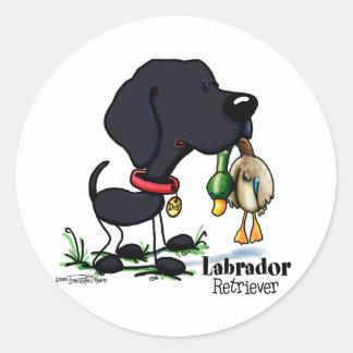 Labrador Retriever - Black Classic Round Sticker