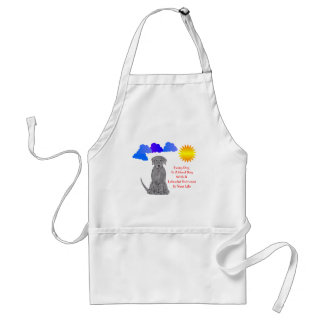 Labrador Retriever Black Every Day Is A Good Day Adult Apron