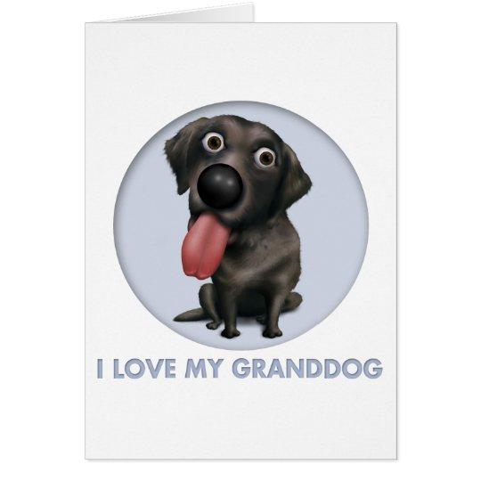 Labrador Retriever (Black) Granddog Card