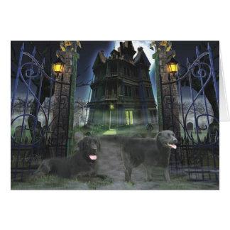Labrador Retriever Black Halloween Greeting Card