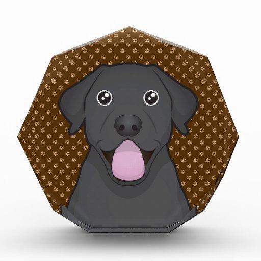 Labrador Retriever (Black Lab) Cartoon Paws Award