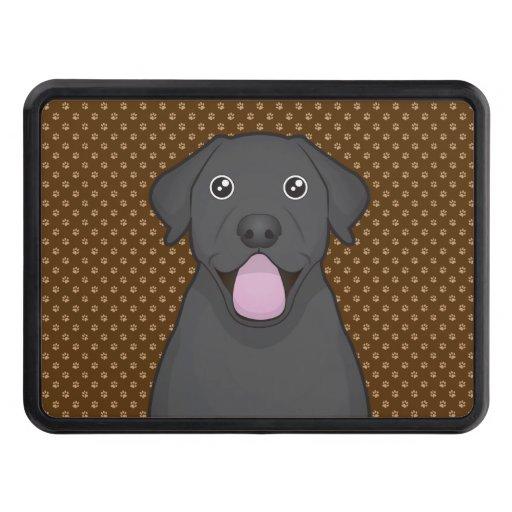 Labrador Retriever (Black Lab) Cartoon Paws Trailer Hitch Cover