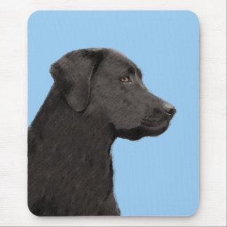 Labrador Retriever Black Painting Original Dog Art Mouse Pad