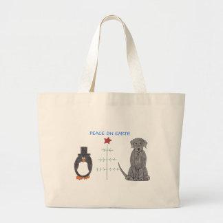 Labrador Retriever Black Peace On Earth Tote Bag