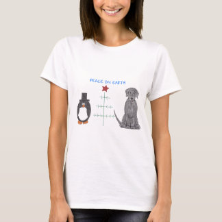 Labrador Retriever Black Peace On Earth T-Shirt