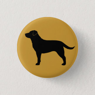 Labrador Retriever (Black) Pinback Button