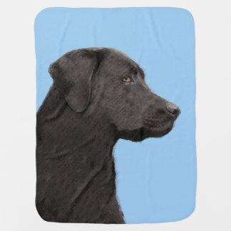 Labrador Retriever (Black) Receiving Blanket