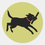 Labrador Retriever (Black) Round Stickers