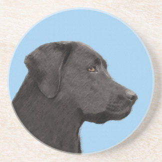 Labrador Retriever (Black) Sandstone Coaster