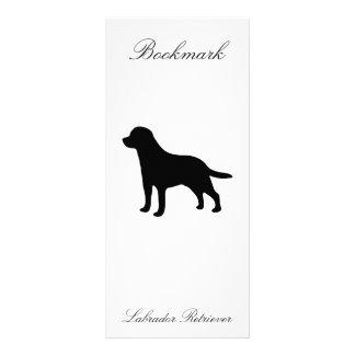 Labrador Retriever black silhouette dog bookmark Rack Card